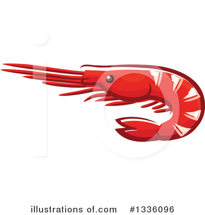 Prawn Clipart #1336096 by Vector Tradition SM