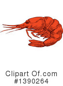 Shrimp Clipart #1390264 by Vector Tradition SM