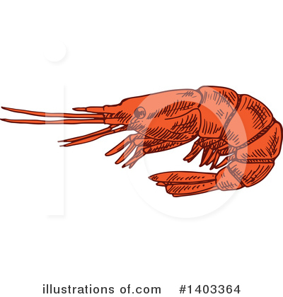 Prawn Clipart #1403364 by Vector Tradition SM