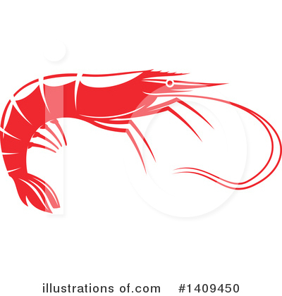 Prawn Clipart #1409450 by Vector Tradition SM
