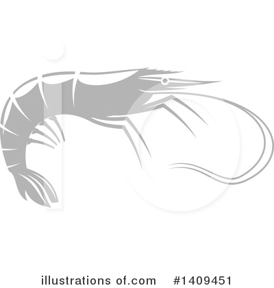 Prawn Clipart #1409451 by Vector Tradition SM