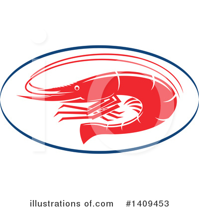 Prawn Clipart #1409453 by Vector Tradition SM