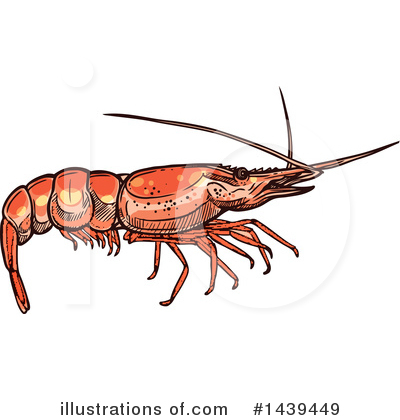 Prawn Clipart #1439449 by Vector Tradition SM
