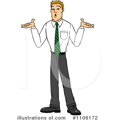 Shrugging Clipart #1106172 by Cartoon Solutions