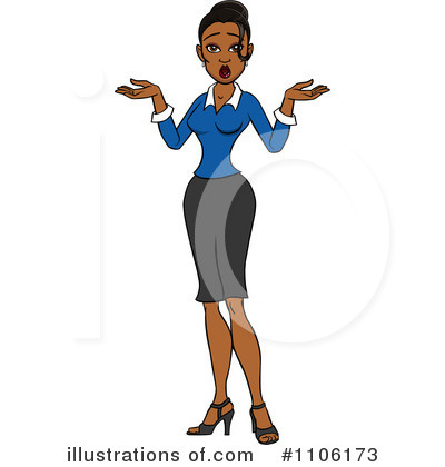 Businesswoman Clipart #1106173 by Cartoon Solutions