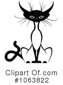 Royalty-Free (RF) Siamese Cat Clipart Illustration #1063822
