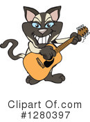 Siamese Cat Clipart #1280397 by Dennis Holmes Designs