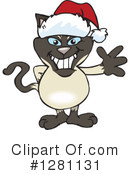 Siamese Cat Clipart #1281131 by Dennis Holmes Designs