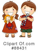 Royalty-Free (RF) Siblings Clipart Illustration #88431