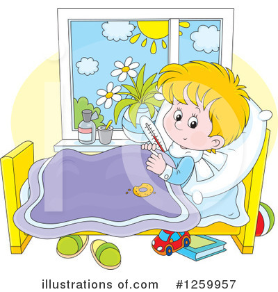 Royalty-Free (RF) Sick Clipart Illustration by Alex Bannykh - Stock Sample #1259957