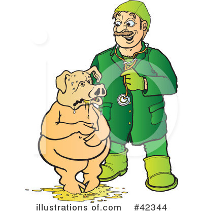 Royalty free rf sick pig clipart illustration by snowy stock