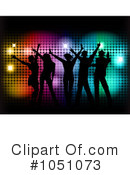 Silhouetted Dancers Clipart #1051073 by KJ Pargeter