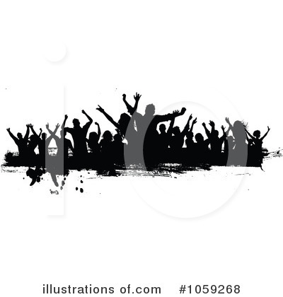 Royalty-Free (RF) Silhouetted Dancers Clipart Illustration by KJ Pargeter - Stock Sample #1059268
