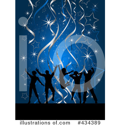 Royalty-Free (RF) Silhouetted Dancers Clipart Illustration by KJ Pargeter - Stock Sample #434389