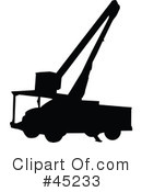 Silhouetted Vehicles Clipart #45233 by JR