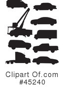 Silhouetted Vehicles Clipart #45240 by JR