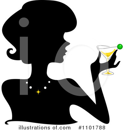 Silhouetted Woman Clipart #1101788 by BNP Design Studio