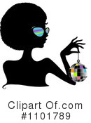 Royalty-Free (RF) Silhouetted Woman Clipart Illustration #1101789