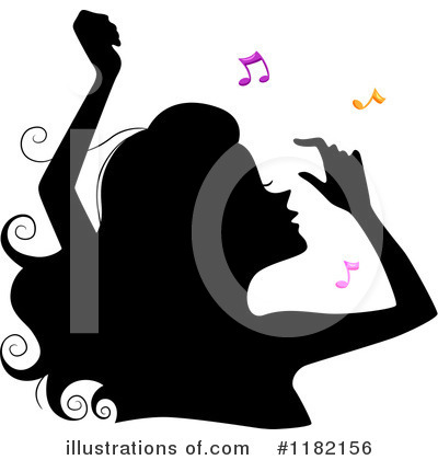 Silhouetted Woman Clipart #1182156 by BNP Design Studio