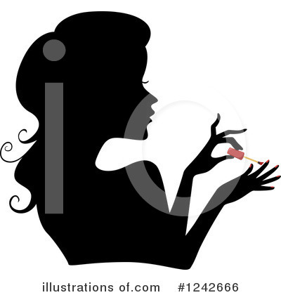 Silhouetted Woman Clipart #1242666 by BNP Design Studio