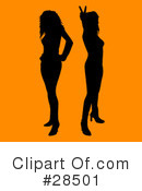 Royalty-Free (RF) Silhouetted Woman Clipart Illustration #28501