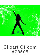 Royalty-Free (RF) Silhouetted Woman Clipart Illustration #28505