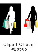Royalty-Free (RF) Silhouetted Woman Clipart Illustration #28506