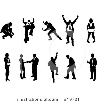 Royalty-Free (RF) Silhouettes Clipart Illustration by Geo Images
