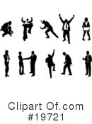 Silhouettes Clipart #19721 by AtStockIllustration