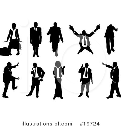 Business Woman Clipart #19724 by AtStockIllustration