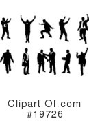 Silhouettes Clipart #19726 by AtStockIllustration