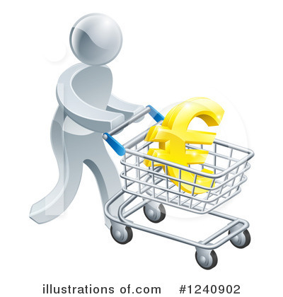 Shopping Cart Clipart #1240902 by AtStockIllustration