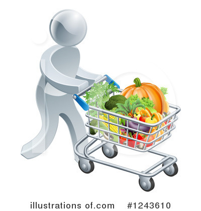 Shopping Cart Clipart #1243610 by AtStockIllustration