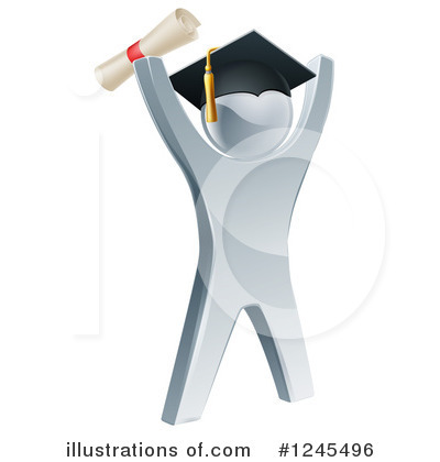Graduate Clipart #1245496 by AtStockIllustration