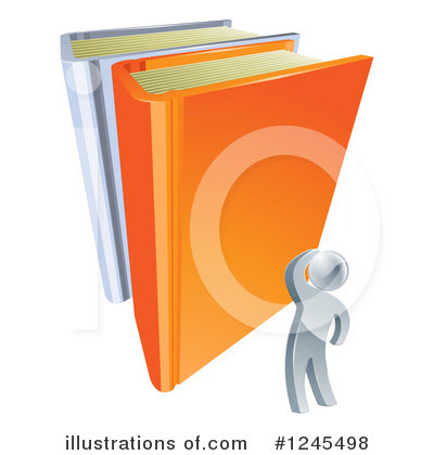Reading Clipart #1245498 by AtStockIllustration