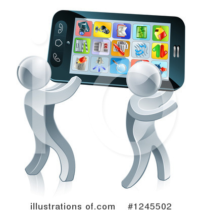 Cell Phone Clipart #1245502 by AtStockIllustration