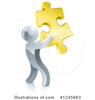 Puzzle Piece Clipart #1245663 by AtStockIllustration