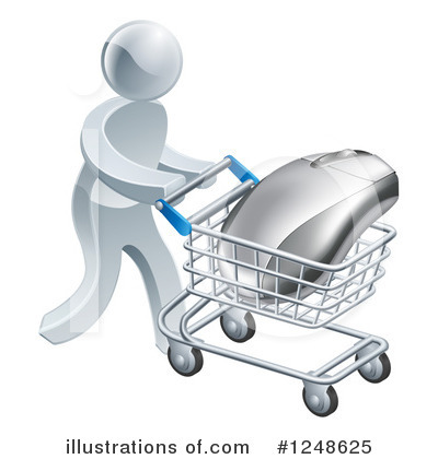 Shopping Cart Clipart #1248625 by AtStockIllustration