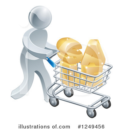 Shopping Cart Clipart #1249456 by AtStockIllustration