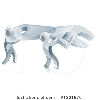 Royalty-Free (RF) Silver Man Clipart Illustration by AtStockIllustration - Stock Sample #1261876