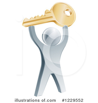 Key Clipart #1229552 by AtStockIllustration
