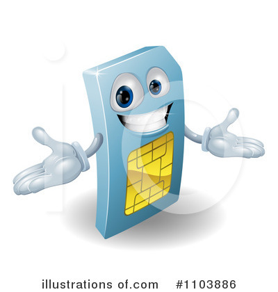Sim Card Clipart #1103886 by AtStockIllustration