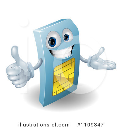 Sim Card Clipart #1109347 by AtStockIllustration