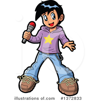 Entertainer Clipart #1372833 by Clip Art Mascots