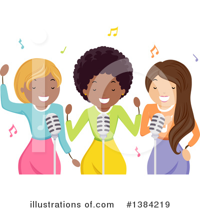 Singer Clipart #1384219 by BNP Design Studio