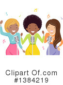 Royalty-Free (RF) Singer Clipart Illustration #1384219
