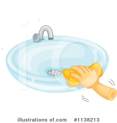 Royalty Free RF Sink Clipart Illustration By Colematt Stock Sample