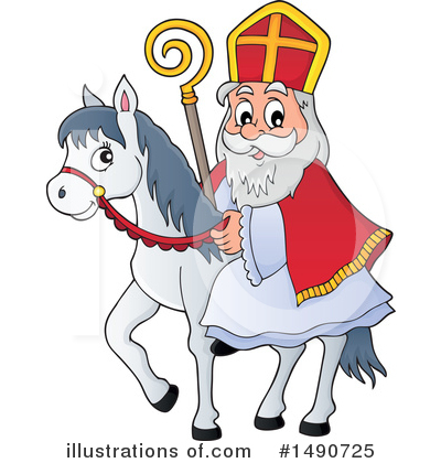Royalty-Free (RF) Sinterklaas Clipart Illustration by visekart - Stock Sample #1490725