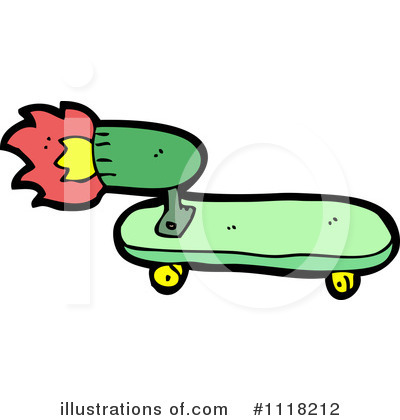Royalty-Free (RF) Skateboard Clipart Illustration by lineartestpilot - Stock Sample #1118212