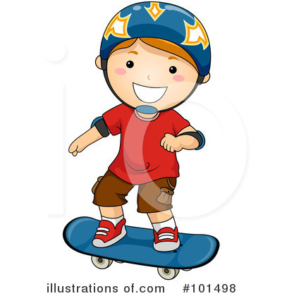 Royalty-Free (RF) Skateboarding Clipart Illustration by BNP Design Studio - Stock Sample #101498
